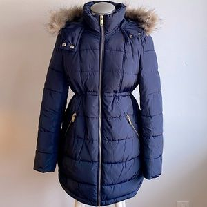 H&M Mama Maternity Coat. Winter. Xs. Navy Blue